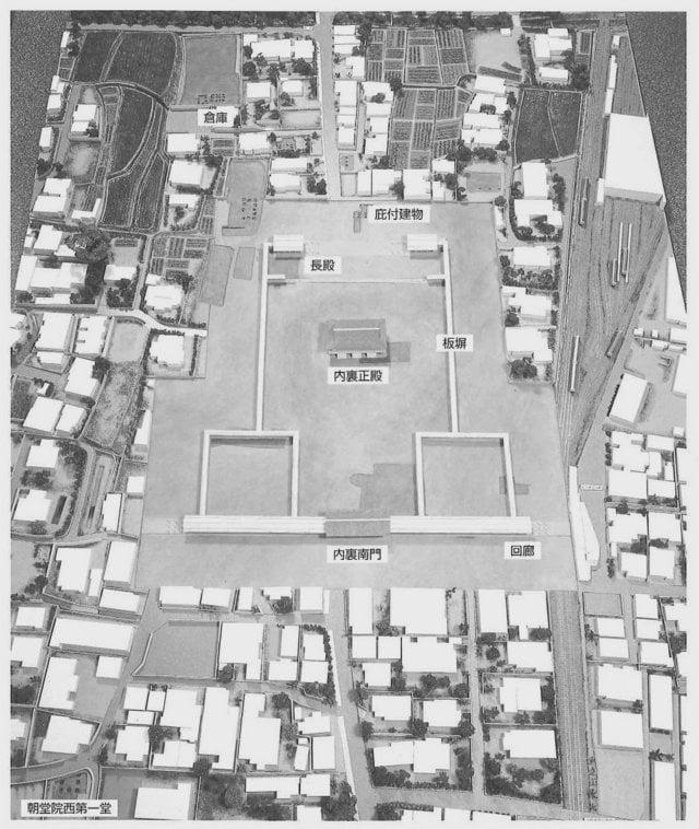 大津宮中枢部復元模型